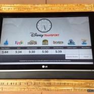Digital Disney Transport Screens at Disney's Animal Kingdom Lodge Kidani Village Bus Stop